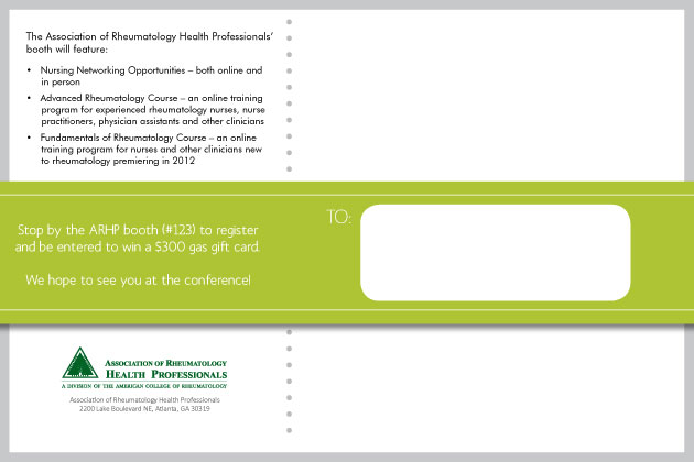 American College of Rheumatology - Booth Advertisement (Mailer Back)