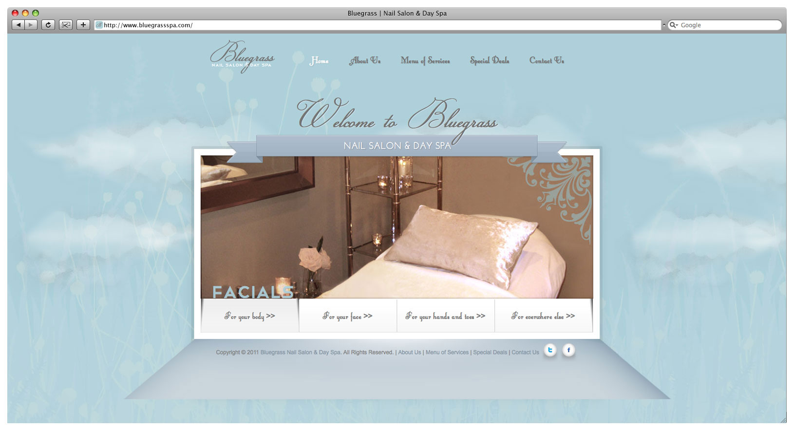 Bluegrass Day Spa & Nail Salon Website - Landing Page Slider 3