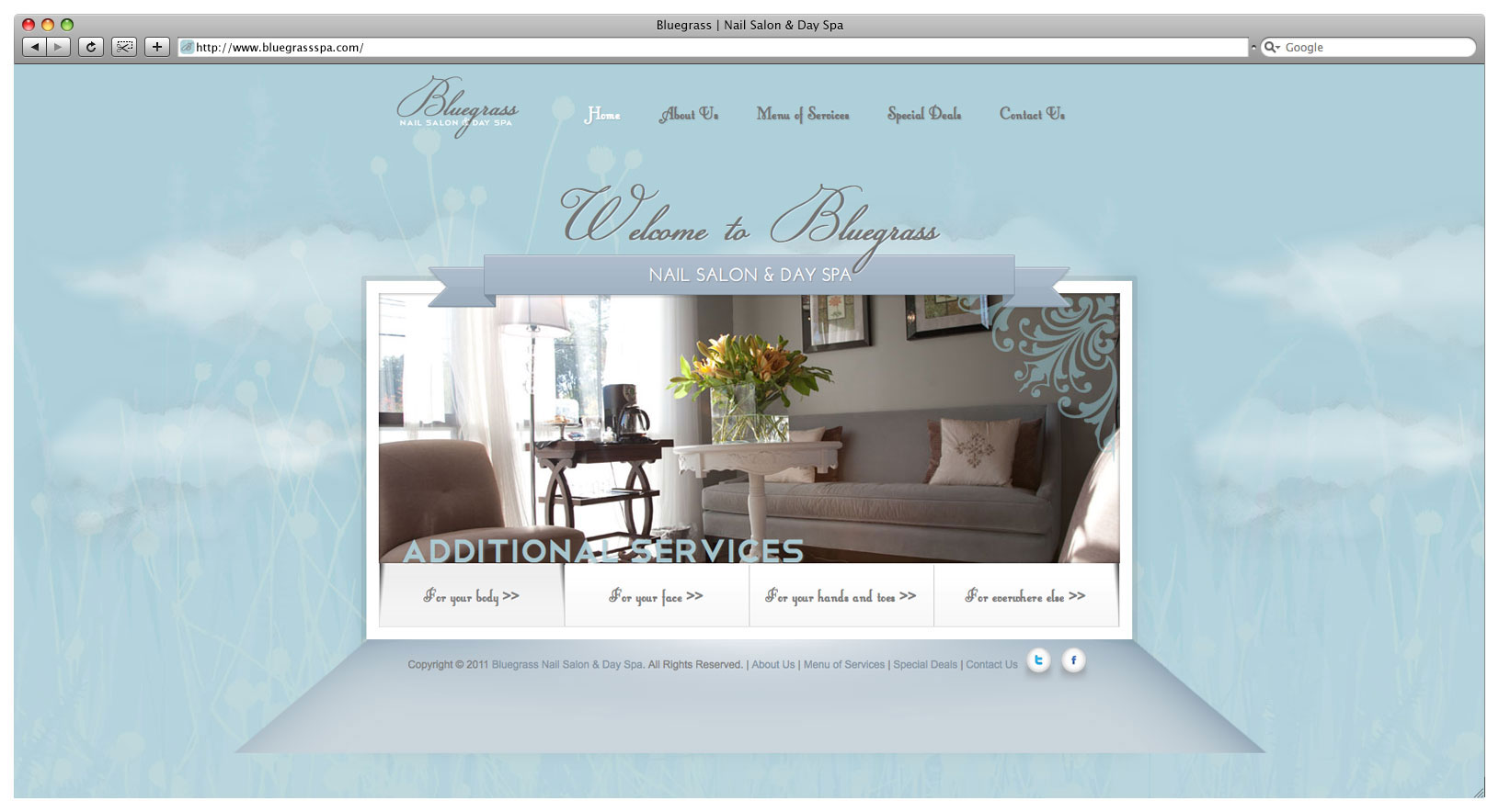 Bluegrass Day Spa & Nail Salon Website - Landing Page Slider 4