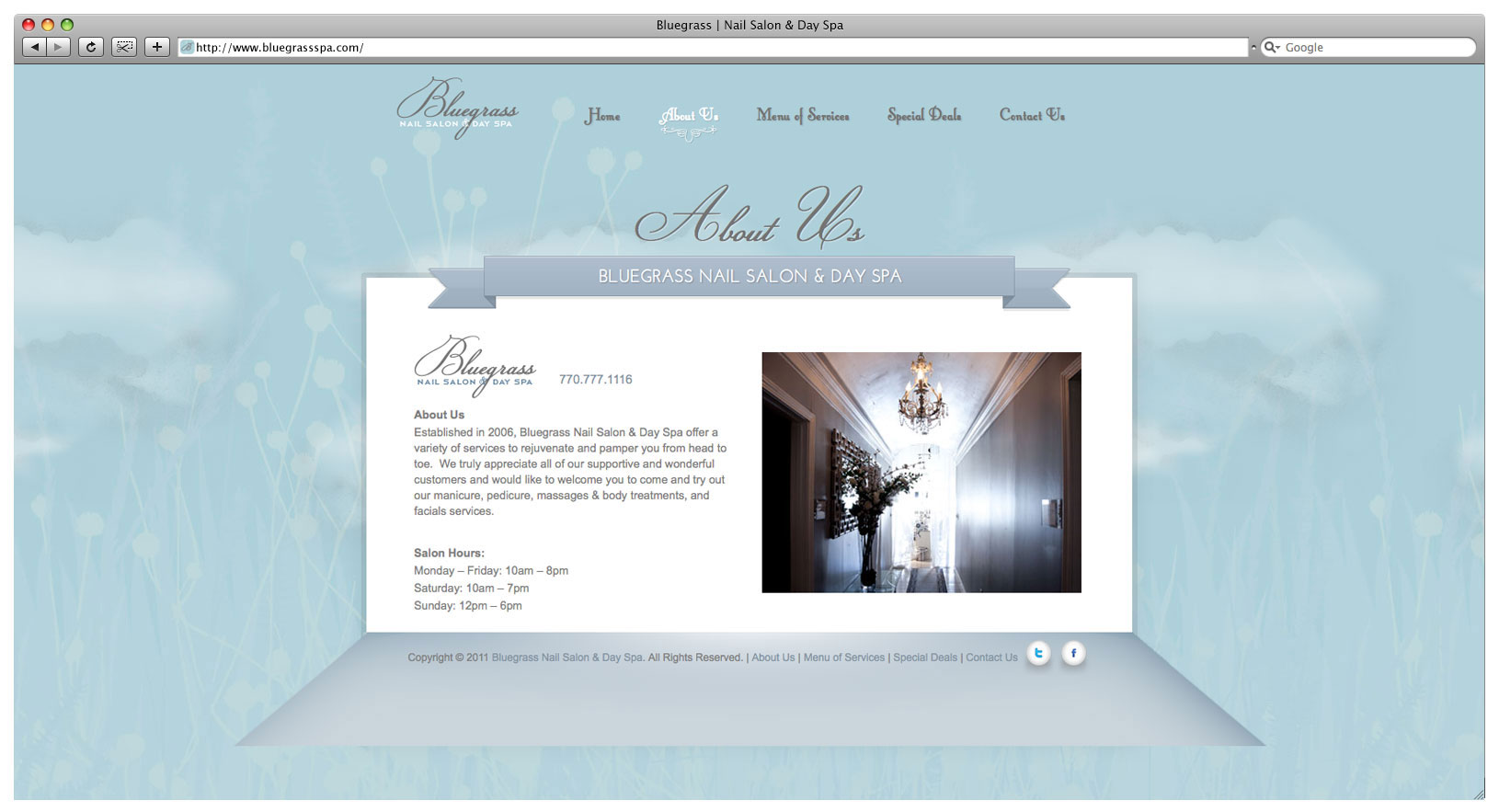 Bluegrass Day Spa & Nail Salon Website - About Us