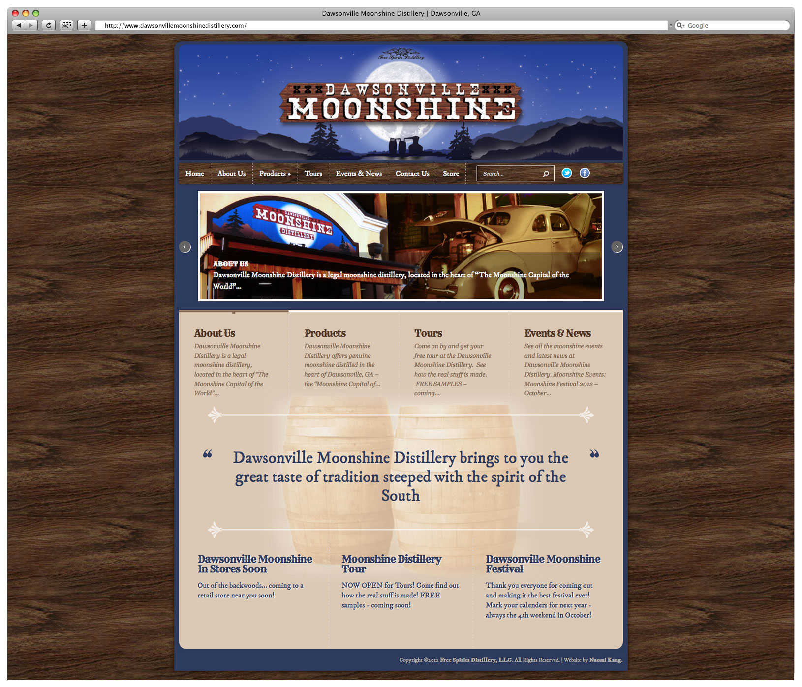Dawsonville Moonshine Distillery Website