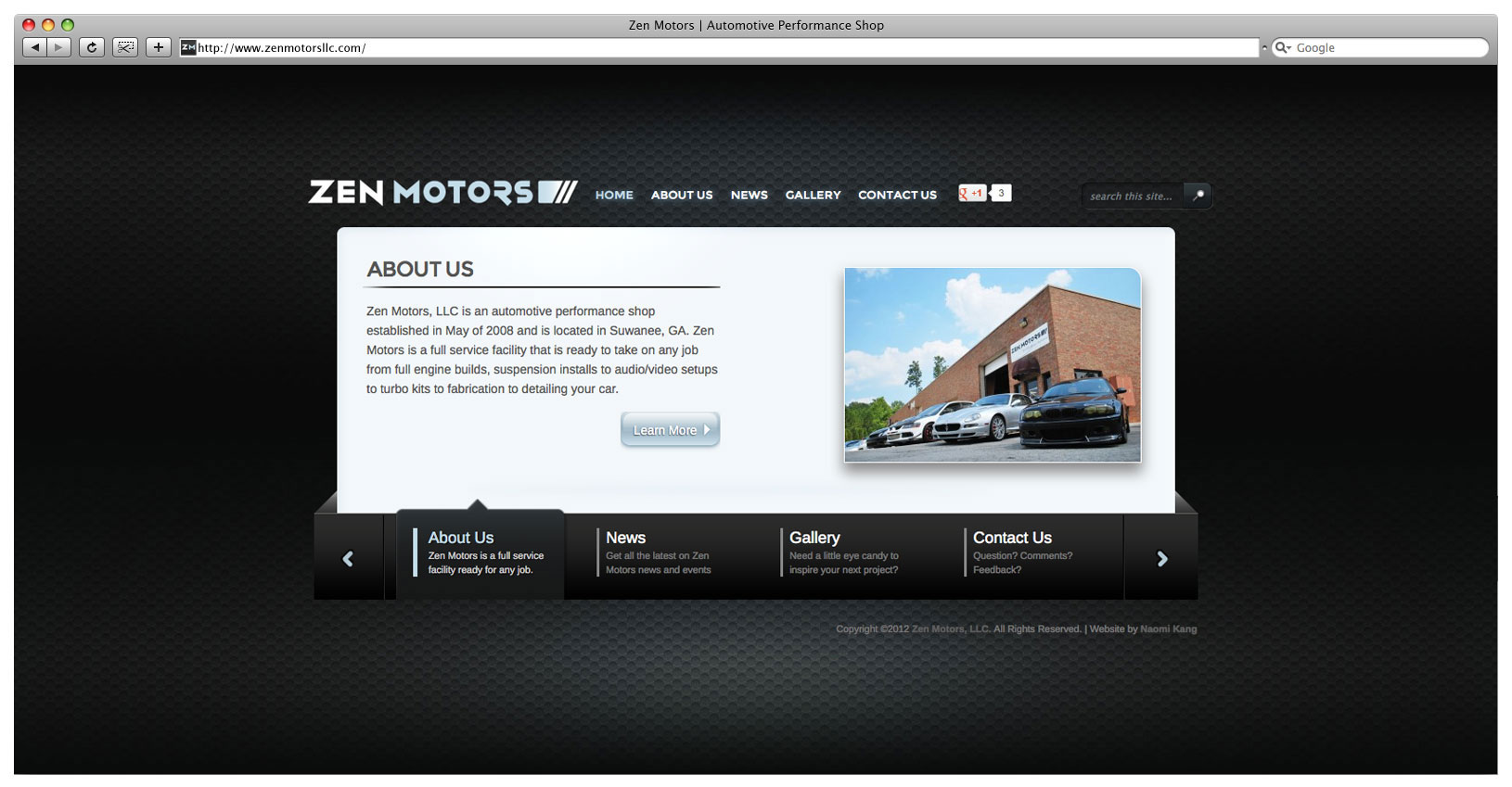 Zen Motors Website