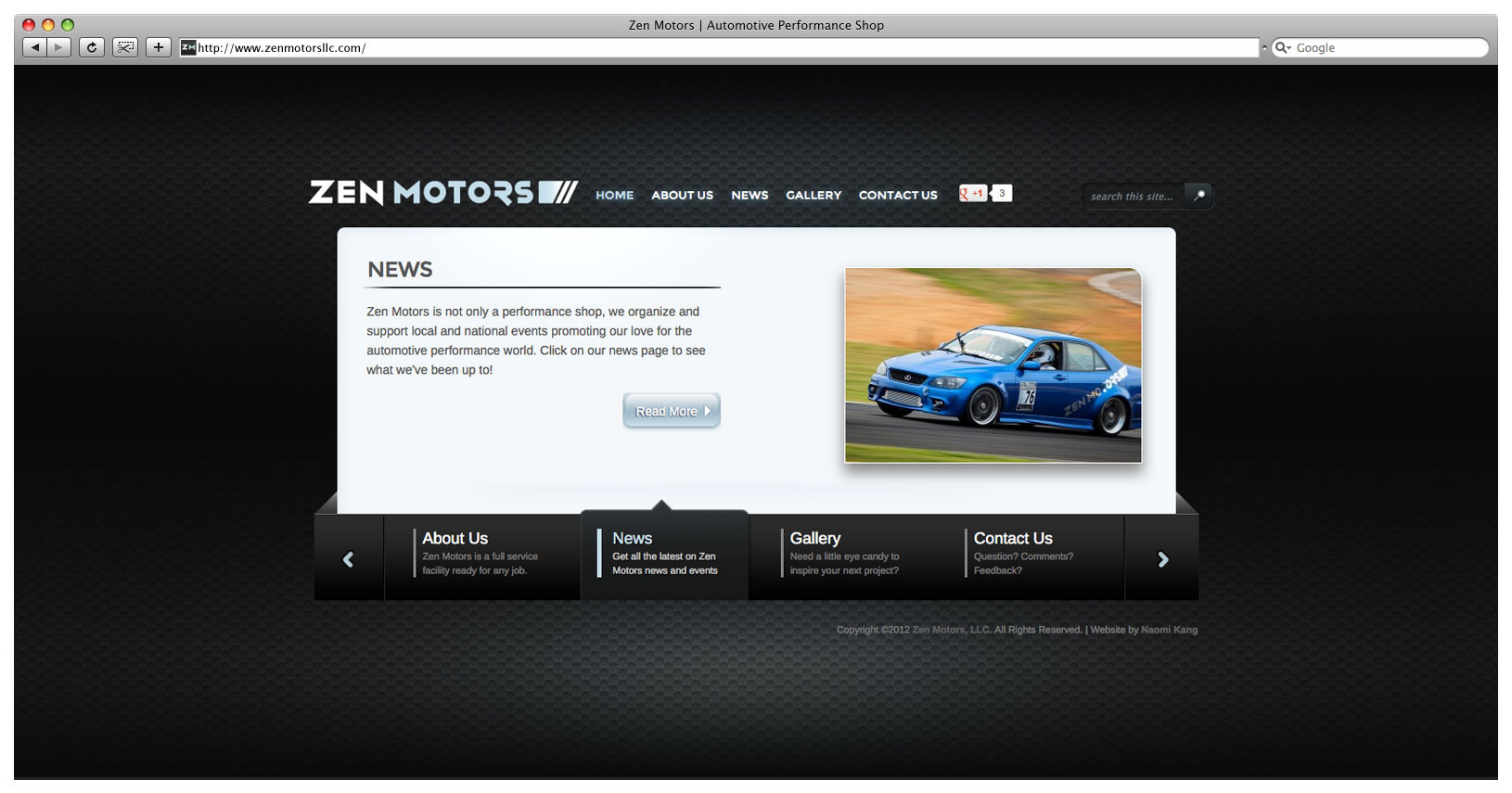 Zen Motors Website - Landing Page Slider