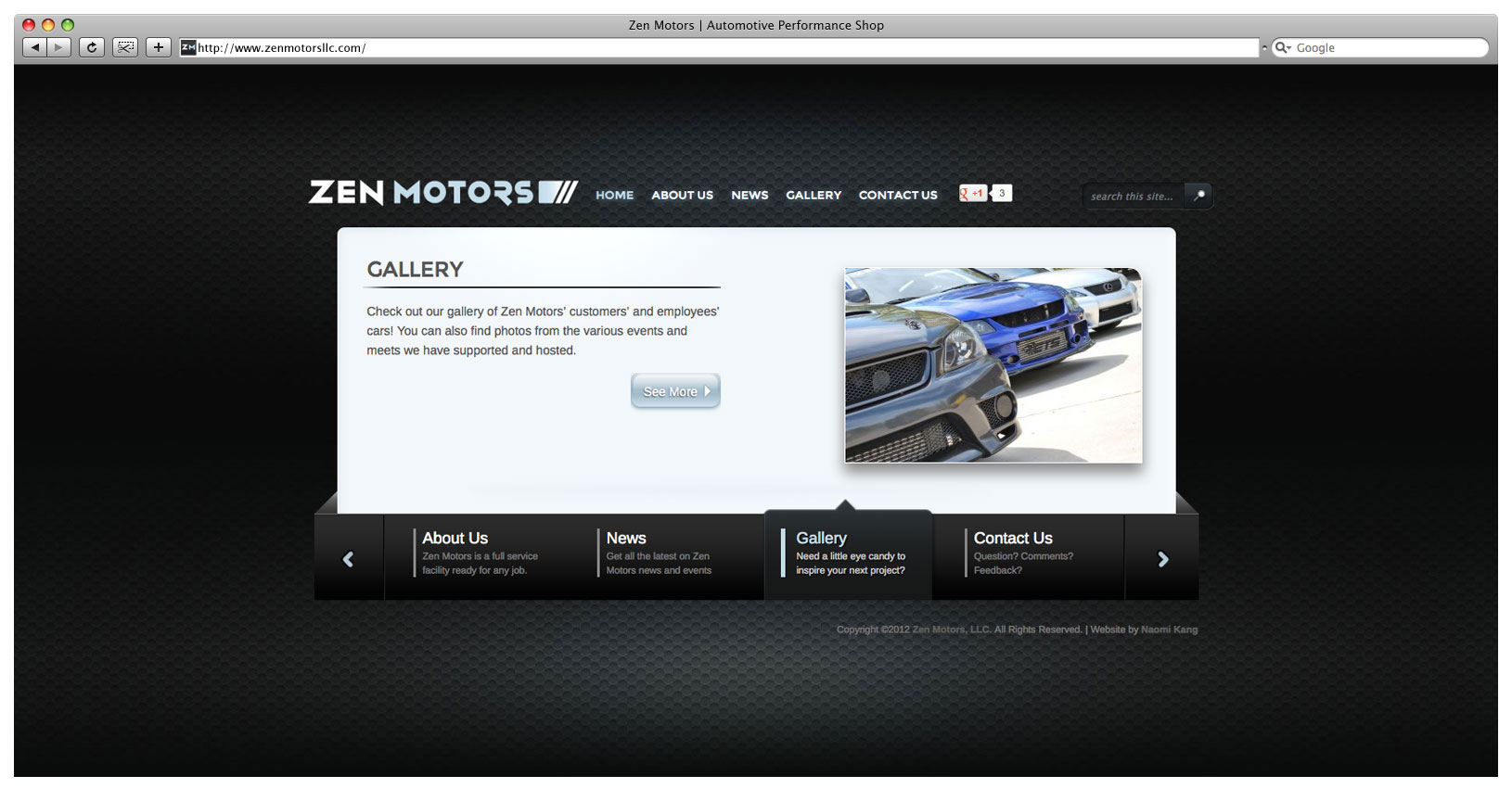 Zen Motors Website - Landing Page Slider 2