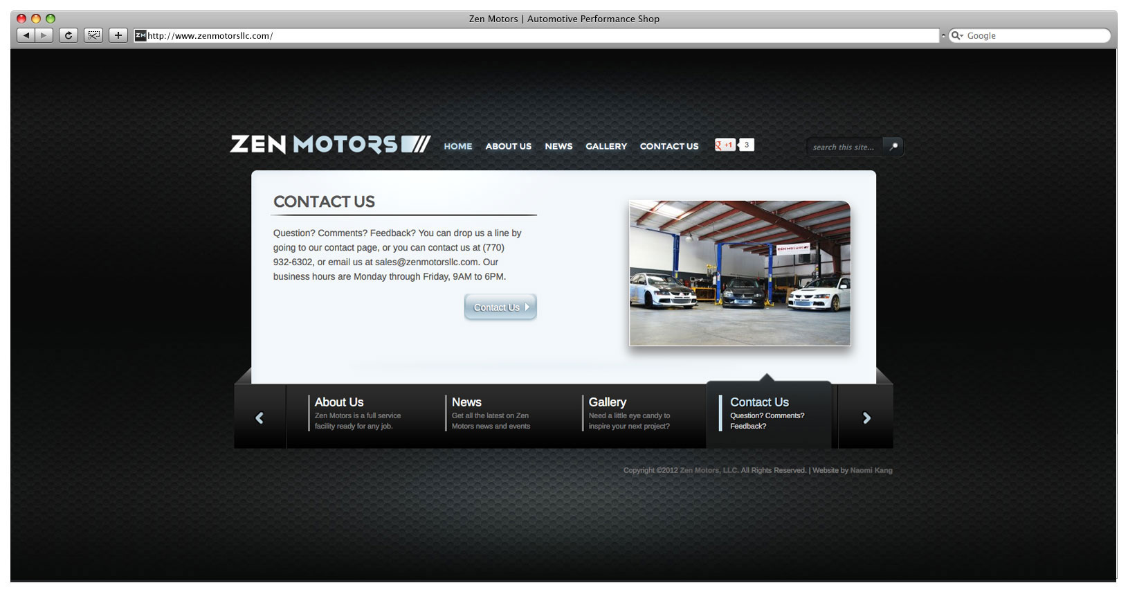 Zen Motors Website - Landing Page Slider 3