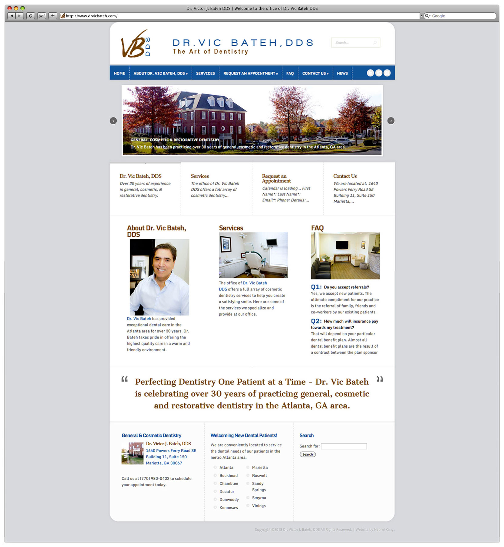 Dr. Victor Bateh DDS – Dental Office Website