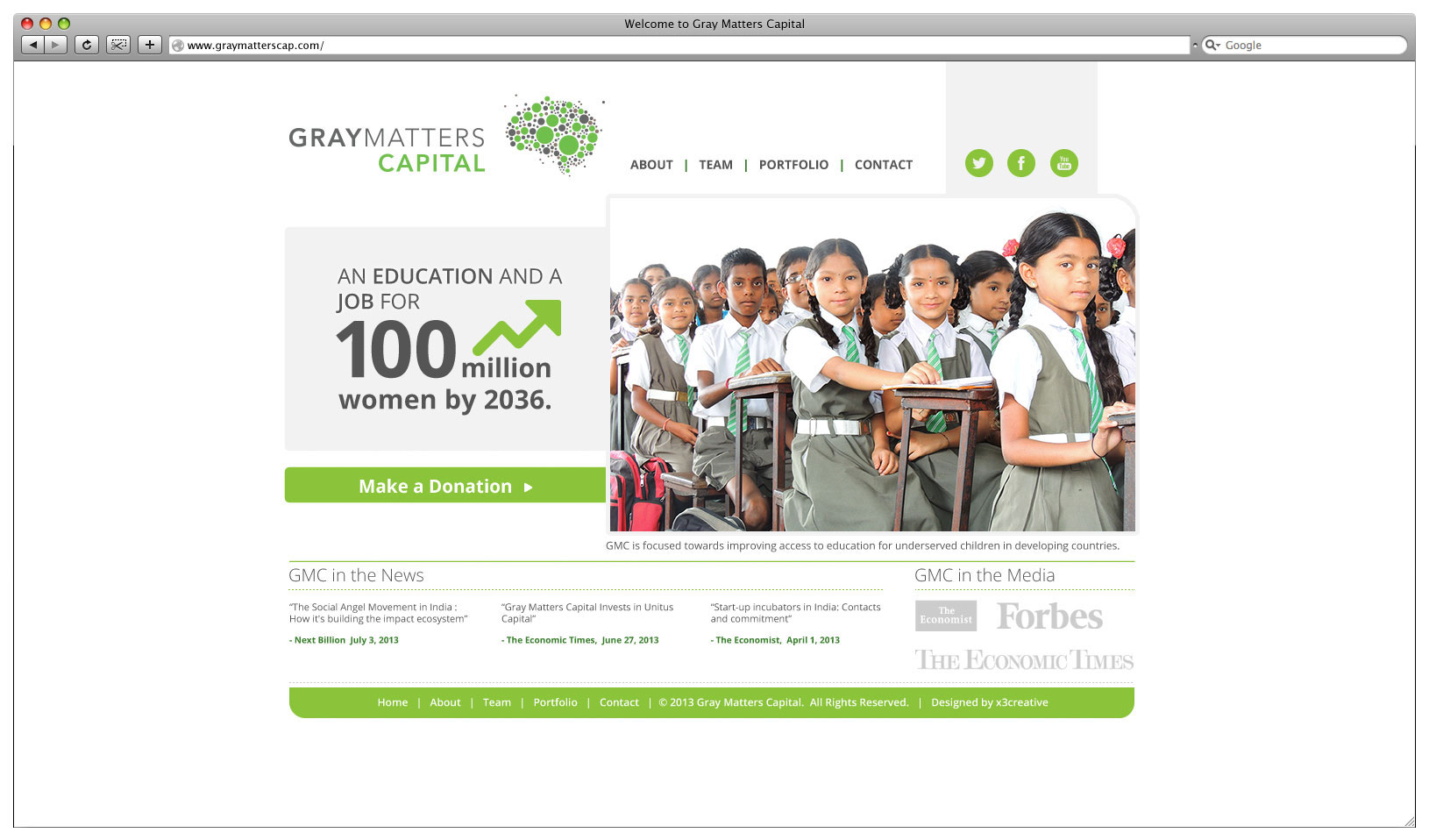 Gray Matters Capital Website - Landing Page