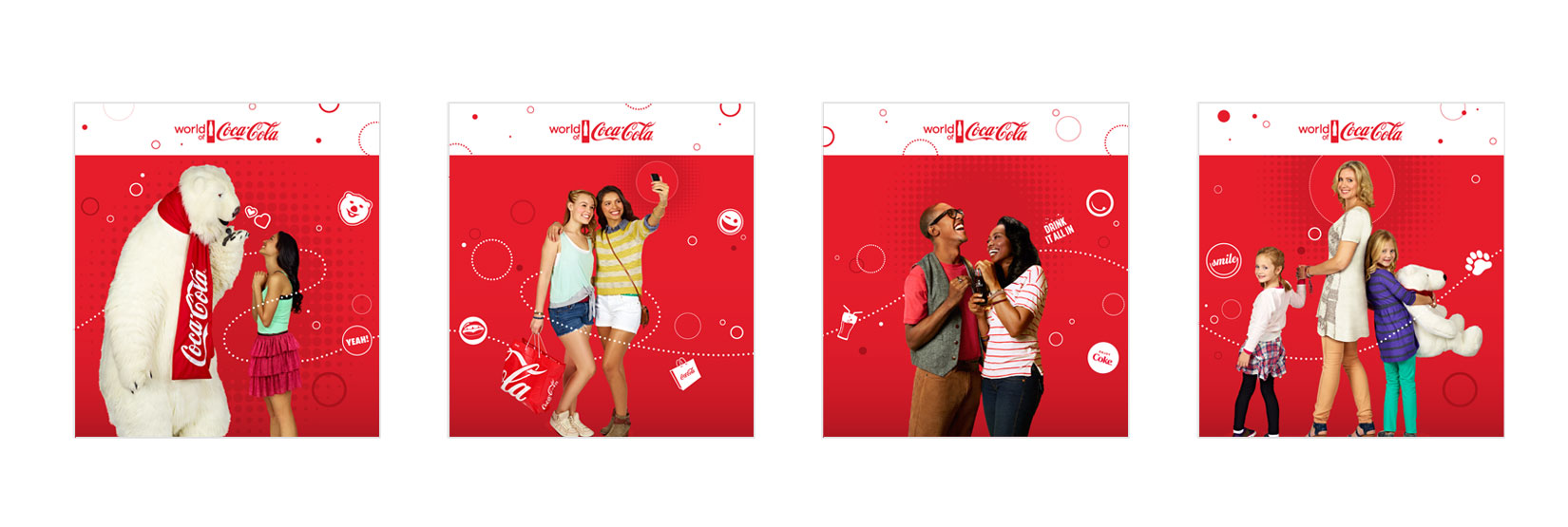 World of Coca-Cola Window Graphics (without window frames)