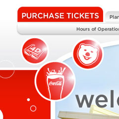 World of Coca-Cola Website Header Animation