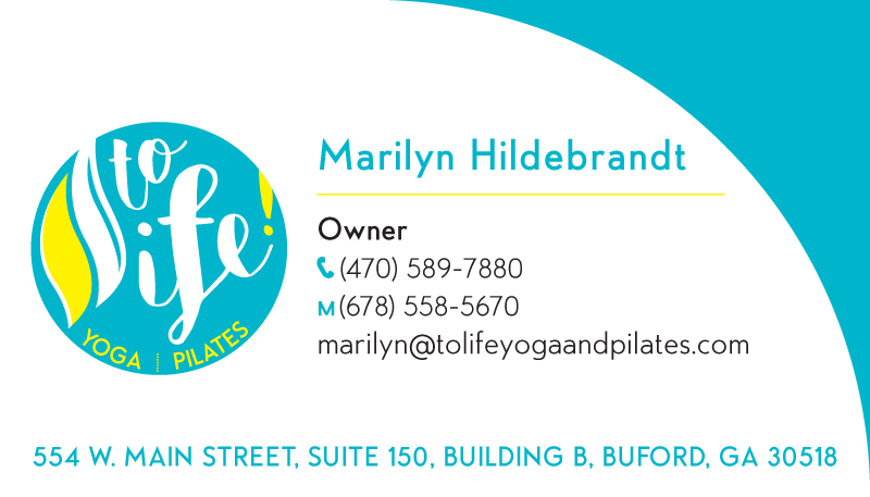 ToLife! Yoga & Pilates Logo & Branding - Business Card Front 1