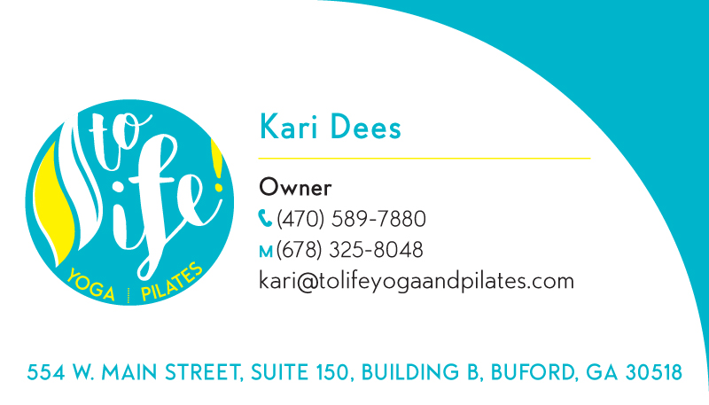 ToLife! Yoga & Pilates Logo & Branding - Business Card Front 2