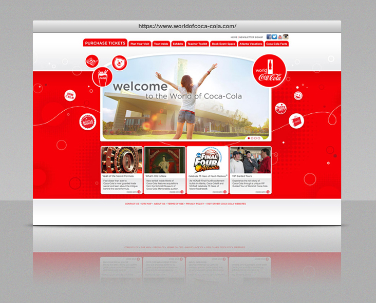 World of Coca-Cola Website - Browser View